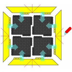 Mata ognioodporna modułowa 575 De-Flex™ Nitrile FR