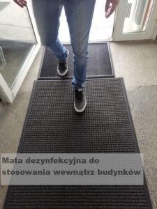 Mata dezynfekcyjna covid-19, Maty dezynfekujące obuwie