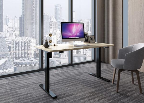 biurko do pracy stojąc siedząc