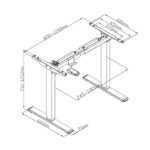 Stelaż biurkowy z regulacją wysokości Spacetronik SPE-114AG