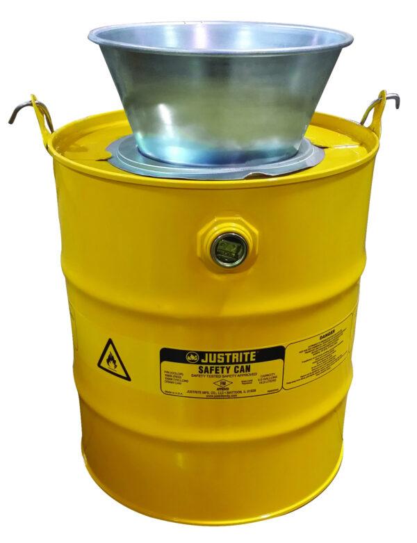 pojemnik na zużyte rozpuszczalniki i płyny łatwopalne