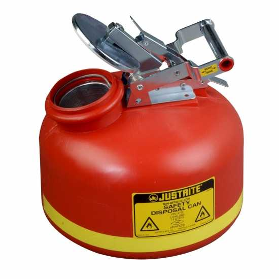 bezpieczny pojemnik na zużyte płyny łatwopalne