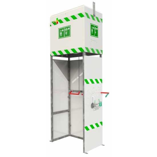 Prysznic bezpieczeństwa z izolowanym zbiornikiem